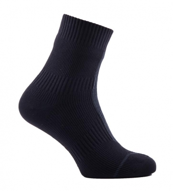 Sealskinz Road hydrostop ankle cycling socks black/grey