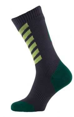 Sealskinz MTB mid mid hydrostop cycling socks anthracite/green