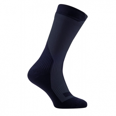 Sealskinz Trekking thick mid waterproof socks black