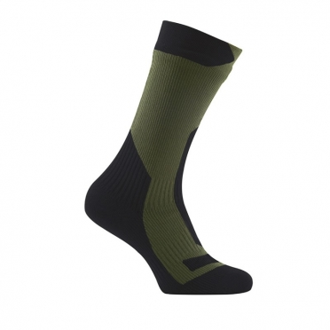 Sealskinz Trekking thick mid waterproof socks olive
