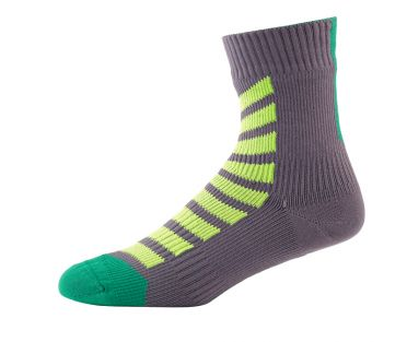 Sealskinz MTB ankle with hydrostop cycling socks anthracite/green/yellow