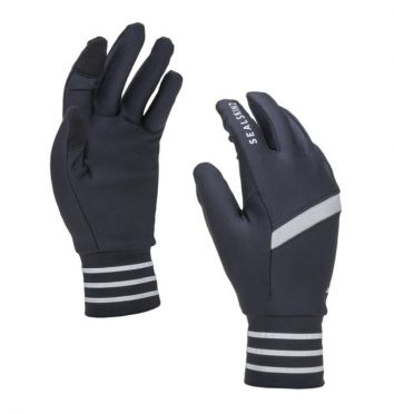 SealSkinz solo reflective gloves black/grey