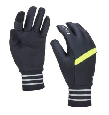 SealSkinz solo reflective gloves black/neon yellow