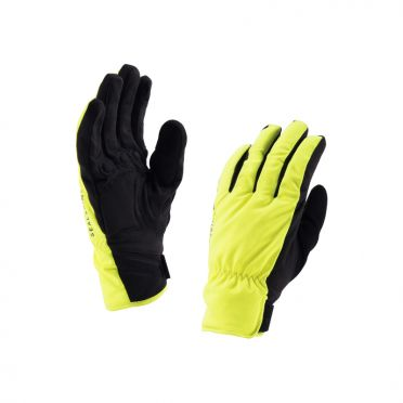 SealSkinz Brecon cycling gloves yellow/black