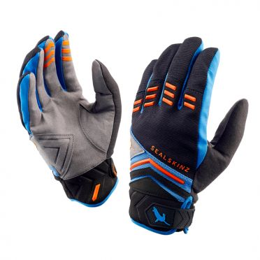 SealSkinz Dragon eye MTB cycling gloves black/blue/orange