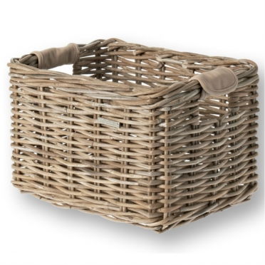 Basil Dorset wicker bike basket grijs M