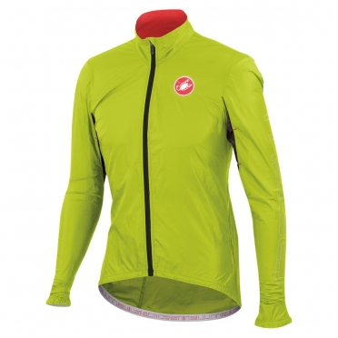 Castelli velo jacket long sleeves jacket lime men's 14026-043 2014