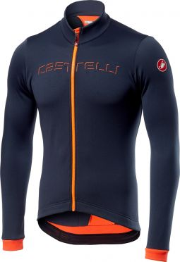Castelli Fondo long sleeve jersey dark blue/orange men
