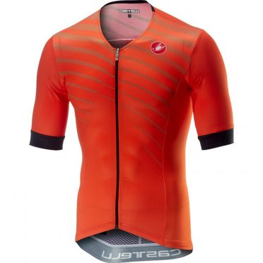 Castelli Free speed race jersey tri top orange men