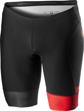 Castelli Free tri short black/red men