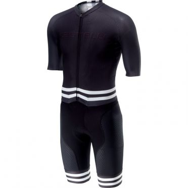 Castelli Sanremo 4.0 speed suit short sleeve black/white men