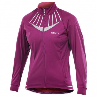 Craft Performance Bike Storm cycling jacket dark pink women