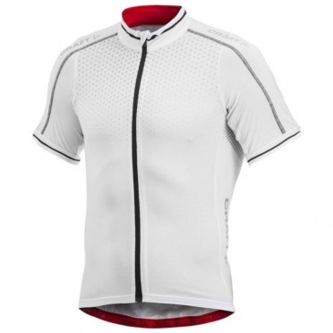 Craft Glow cycling jersey men white/black