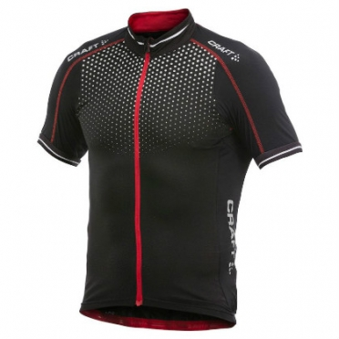Craft Glow cycling jersey men black/red