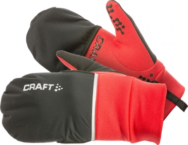 Craft Hybrid weather running glove red/black