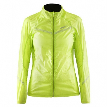 Craft Featherlight cycling jacket yellow women