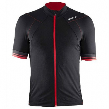 Craft Puncheur cycling jersey men black/red