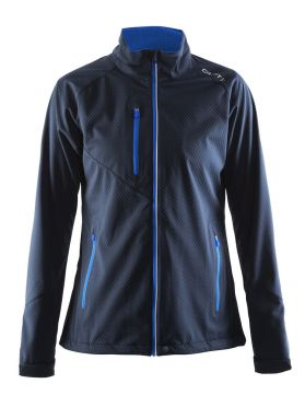 Craft Bormio shoft shell winter jacket blue/navy women