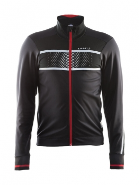 Craft Glow cycling jacket black/red men
