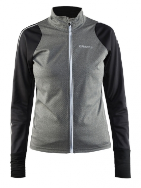Craft Belle cycling jacket black/grey women