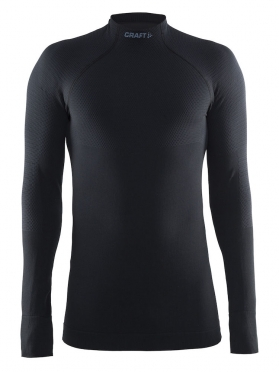 Craft Warm half polo long sleeve baselayer black men