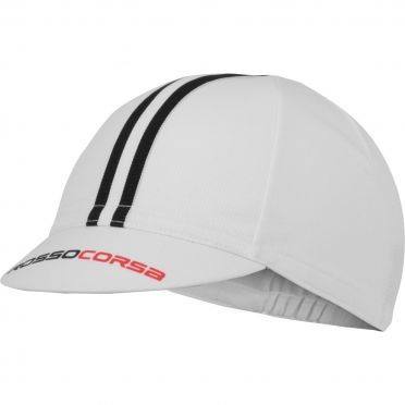Castelli Rosso Corsa Cycling cap white/black men