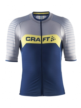 Craft Gran fondo cycle jersey men blue/silver