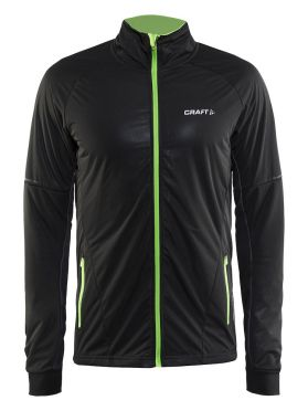 Craft Storm cross-country ski jacket 2.0 black/green men