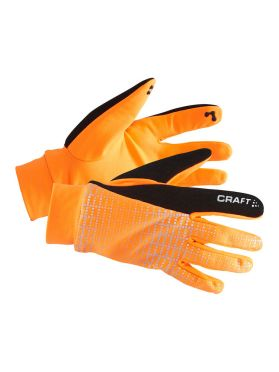 Craft Brilliant 2.0 thermal running glove orange/reflective