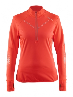 Craft Brilliant 2.0 thermal wind running top long sleeve pink women