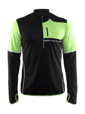 Craft Cover thermal wind running top long sleeve black/shout men