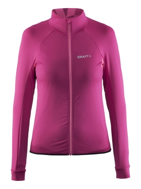 Craft Velo thermal cycling jersey long sleeve pink/smoothie women