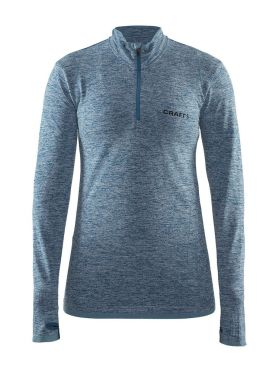 Craft Active Comfort Zip long sleeve baselayer blue/teal women