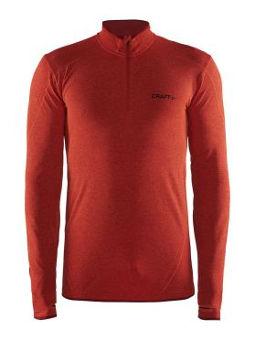 Craft Active Comfort Zip long sleeve baselayer red/bolt men