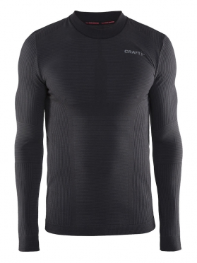 Craft Warm wool comfort long sleeve baselayer black men