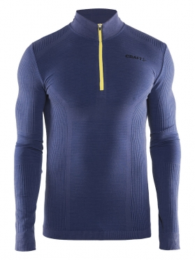 Craft Warm wool comfort zip long sleeve baselayer blue men