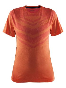 Craft Cool comfort short sleeve baselayer orange/push women