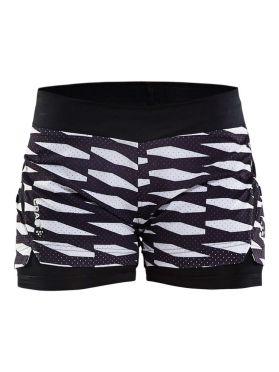 Craft Breakaway 2-in-1 running shorts black/white women