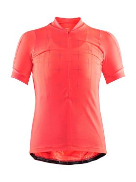 Craft Belle glow cycling jersey pink women