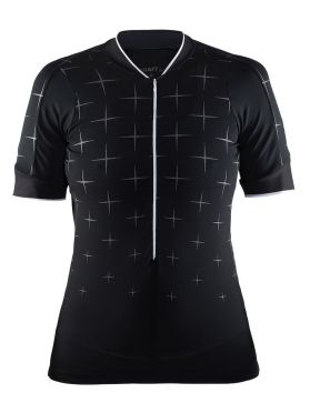 Craft Belle glow cycling jersey black women