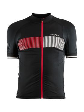 Craft Verve Glow cycling jersey black/red men