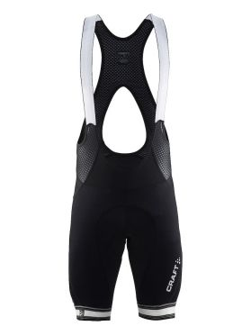 Craft Verve bib shorts black white men