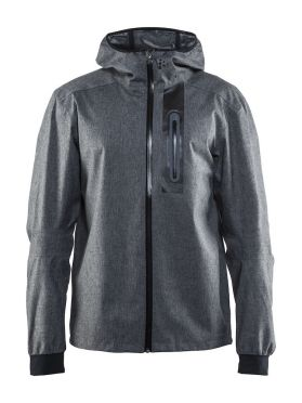 Craft ride rain jacket gray men