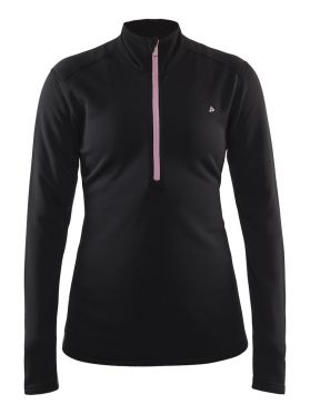 Craft Sweep halfzip ski mid layer black/pink women