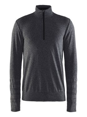 Craft Smooth halfzip ski mid layer gray men