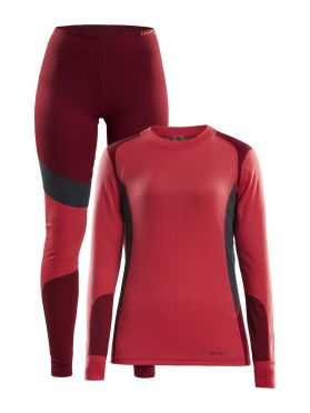 Craft Active 2-Pack baselayer set red women