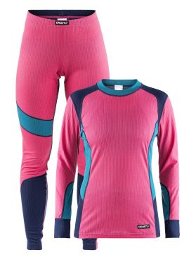 Craft Active 2-Pack baselayer set pink/blue women