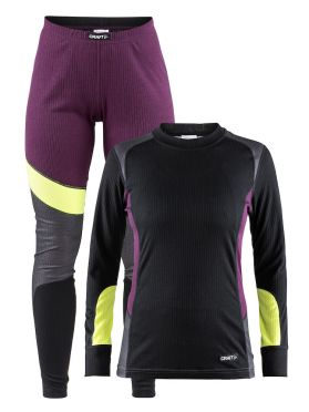 Craft Active 2-Pack baselayer set black/purple women