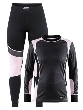 Craft Active 2-Pack baselayer set grey/pink women