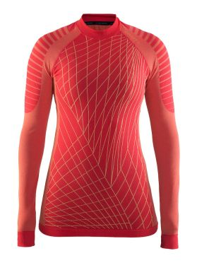 Craft Active intensity crewneck long sleeve baselayer red women